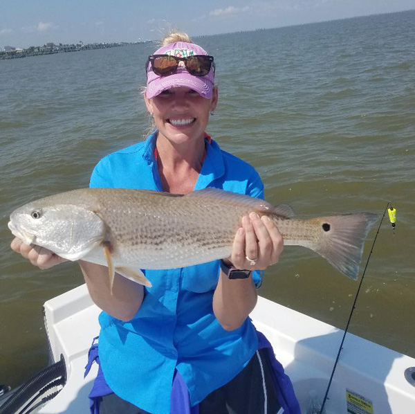 red fish rach Late Fall Galveston Bay Fishing